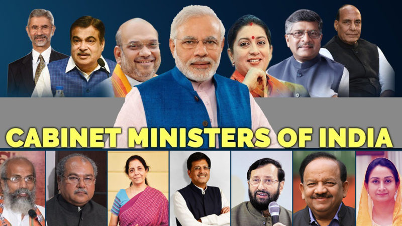 Complete list of Cabinet ministers, ministers of state with independent charge